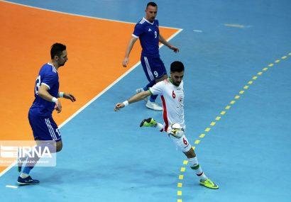تساوی تیم ملی فوتسال ایران مقابل اسلواکی
