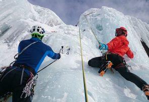 صعود موفقیت آمیز دو کوهنورد گیلانی در نخستین صعود زمستان دیواره بیستون
