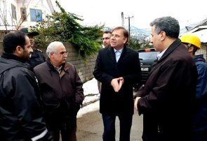 بازدید استاندار گیلان از روند برق رسانی در املش