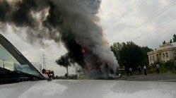 آتش سوزی یک اتوبوس مسافربری در جاده فومن – سراوان