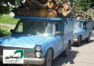 توقيف ۳ خودرو حامل چوب قاچاق در رودسر