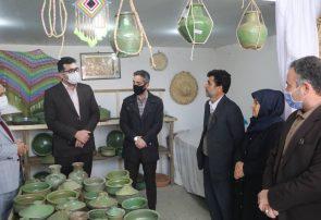 بازدید سرپرست فرمانداری شفت از واحدهای کارگاهی سفالگری در روستای جیرده