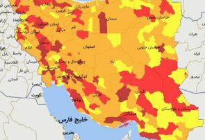 خارج شدن ۱۲۴ شهرستان از وضعیت قرمز کرونا / ۲۹ شهرستان در وضعیت  قرمز