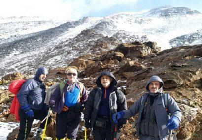 کوهنوردان ماسالی برفراز بلندترین آتشفشان آسیا و خاورمیانه