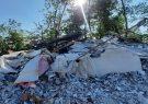 تخریب یک ویلای غیرمجاز در اراضی ملی لاهیجان